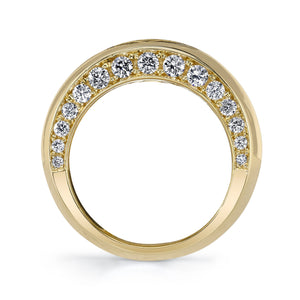 Gateways Diamond Halo Gold Ring with Sri Yantra Engraving
