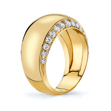 Load image into Gallery viewer, Gold and Diamond Infinity Halo Ring