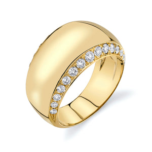 Gold and Diamond Infinity Halo Ring
