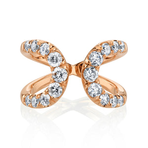 Quantum White Diamond Ring in Rose Gold
