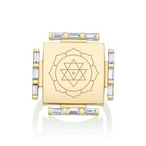Engraved Manifestation Pinky  Ring with Nitya Kulasundari