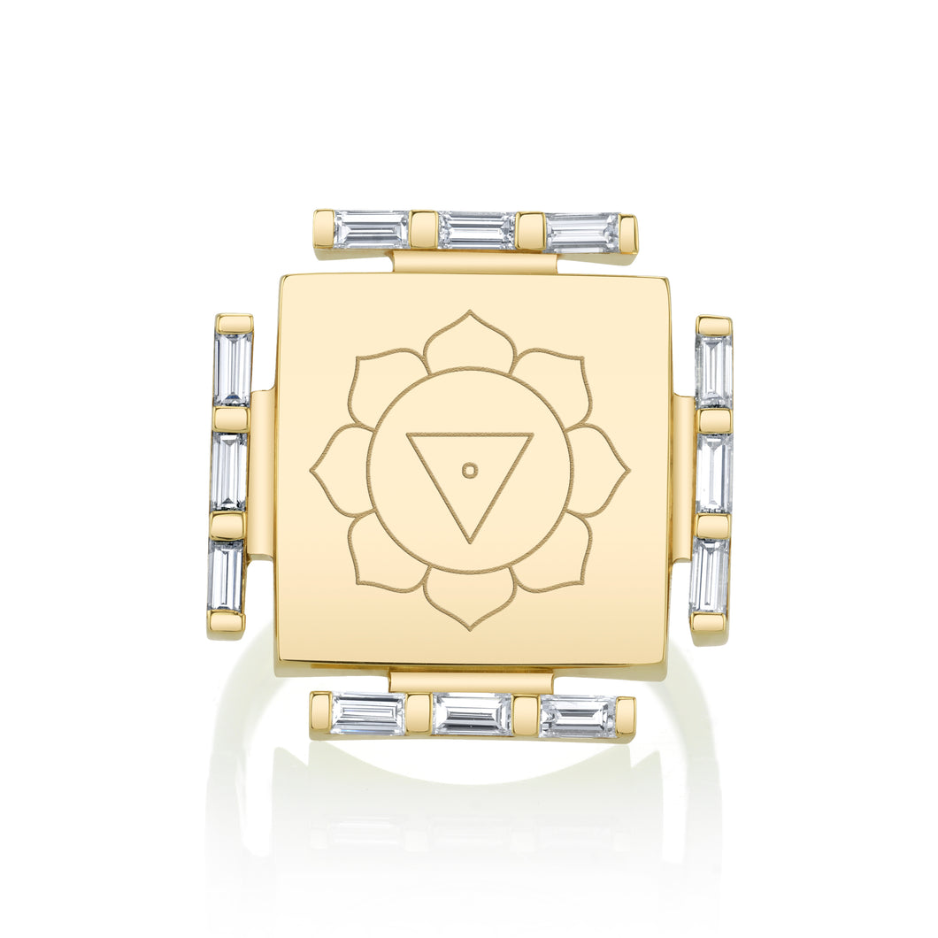 Engraved Manifestation Pinky Ring with Nitya Nityaklinna