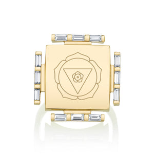 Engraved Manifestation Pinky Ring with Nitya Bhagamalini
