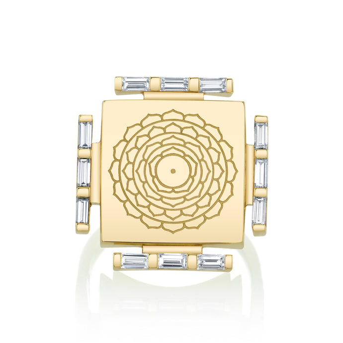 Engraved Manifestation Pinky Ring with Nitya Sarvamangala
