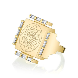 Engraved Manifestation Pinky Ring with Vijaya Nitya