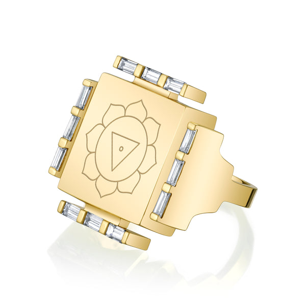 Engraved Manifestation Ring with Nitya Nityaklinna