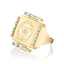 Load image into Gallery viewer, Engraved Manifestation Ring with Nitya Bhagamalini
