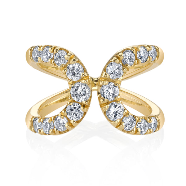Quantum White Diamond Ring in Yellow Gold
