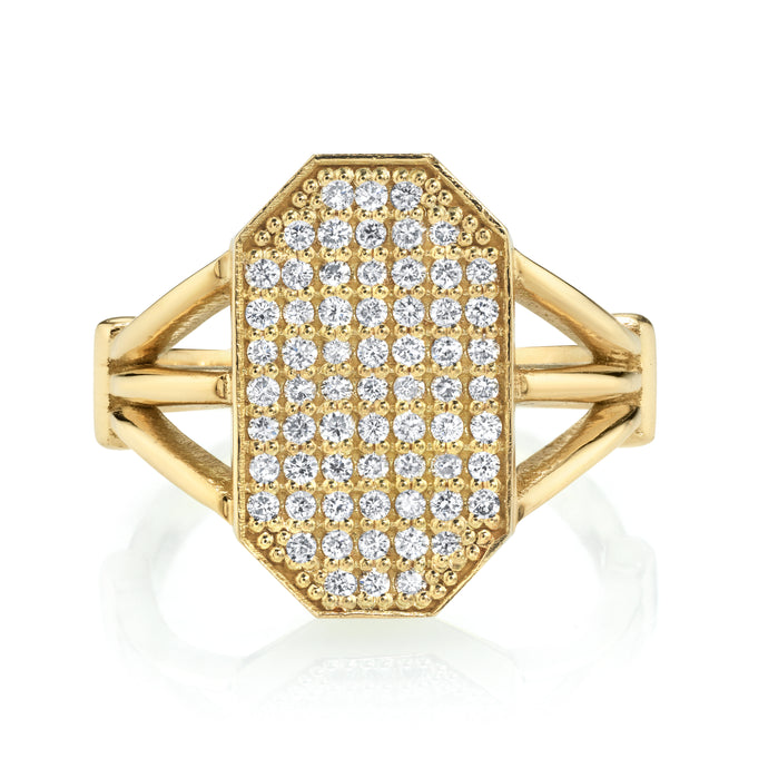 Devi Shield Gold Diamond Ring