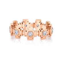 Load image into Gallery viewer, Gateways Eternity Band -Rose Gold and Diamond