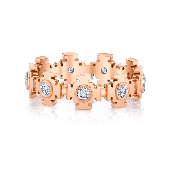Rose Gold Gateways Diamond Eternity Band