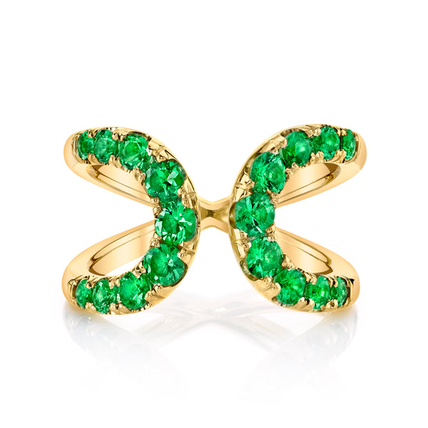Quantum Emerald Ring in Yellow Gold