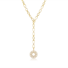 Load image into Gallery viewer, 18 Karat Gold Infinity Elements Handmade Necklace with Diamond Infinity Clasp