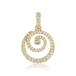 Diamond Pave Destiny Gold Necklace