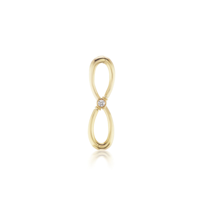 Gold and Diamond Infinity Pendant/Charm Holder