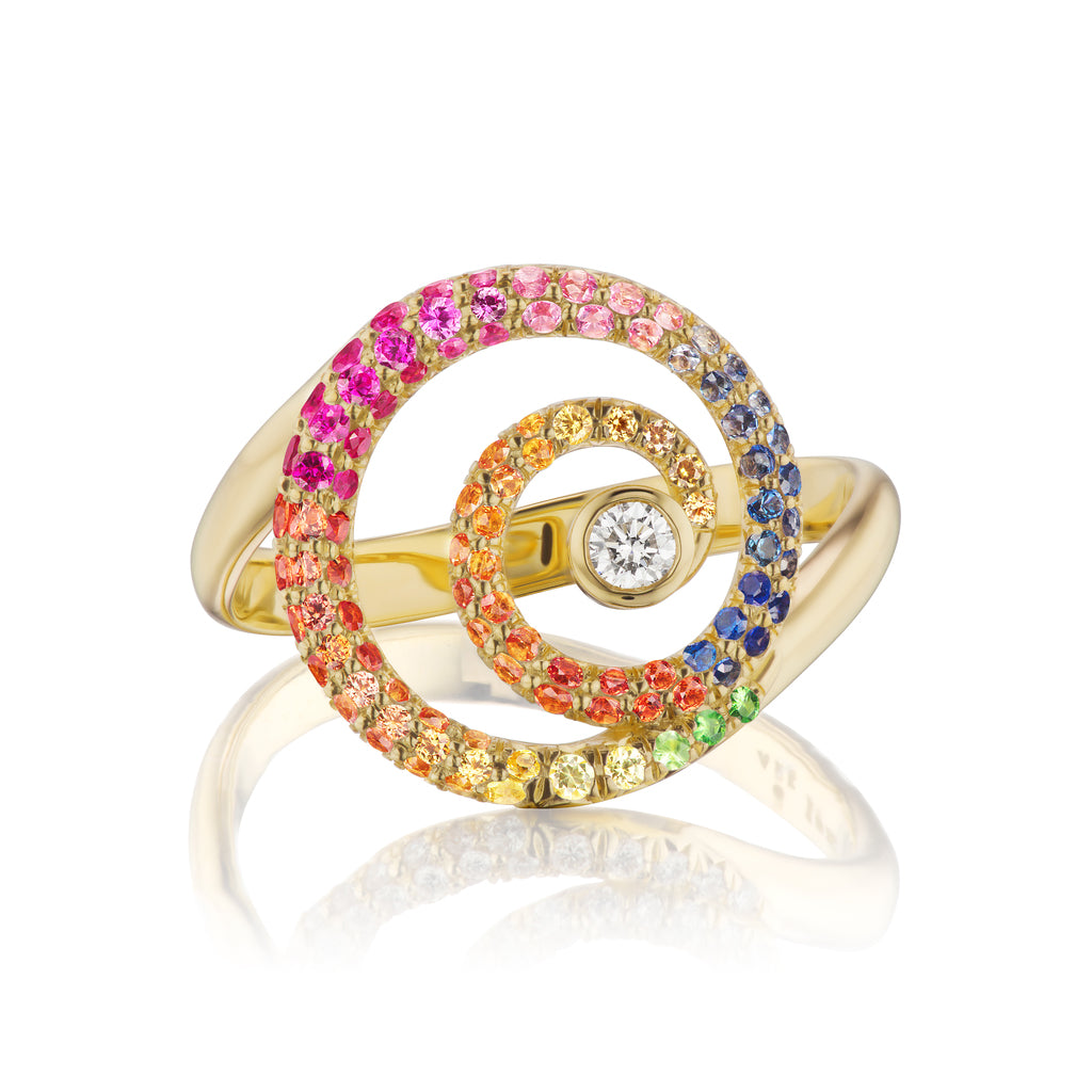 Rainbow Destiny Gold Ring