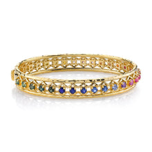 Load image into Gallery viewer, Rainbow Muse Sapphire Bangle