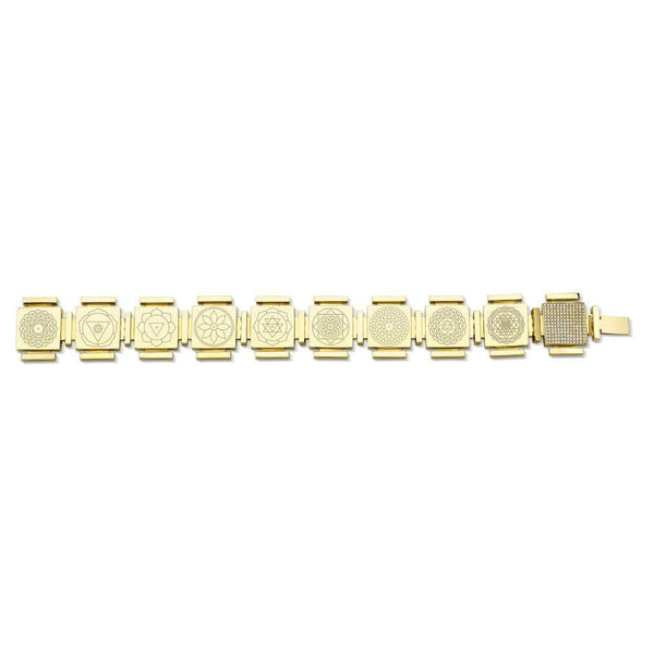 Lunar Goddess Bracelet with White Diamond Pave Lock