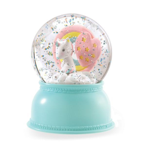 Djeco Snow Globe Night Light - Unicorn