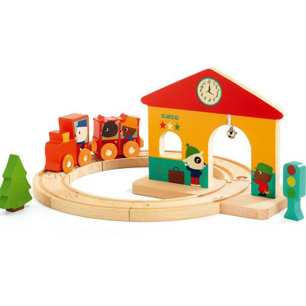 Djeco Wooden Mini Train Set