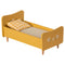 Maileg Mini Wooden Bed - Yellow