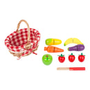Vintage Shopping Basket with Cuttable Fruits