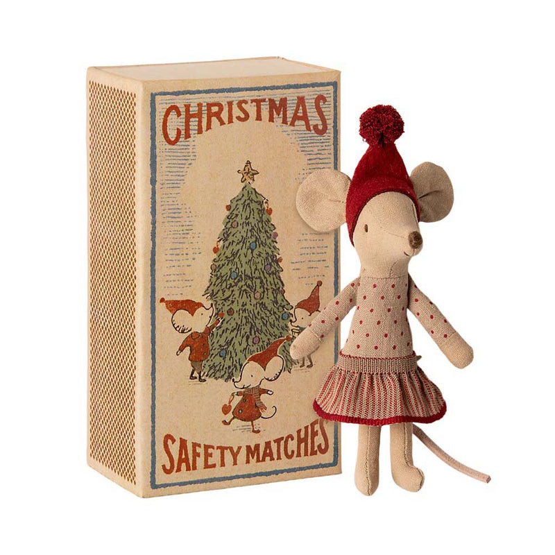 Maileg Christmas Big Sister Mouse in Box (2020)