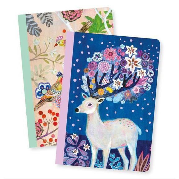 Djeco A6 Notebooks x2 - Martyna Tiger - I Want That Present