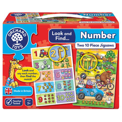 Look & Find Number Learning Puzzles - I Want That Present