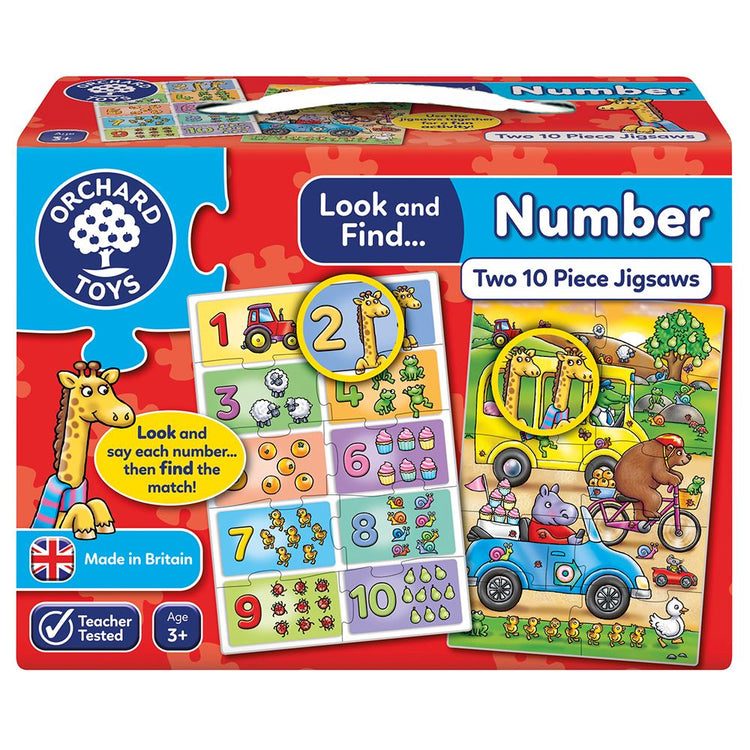 Look & Find Number Learning Puzzles