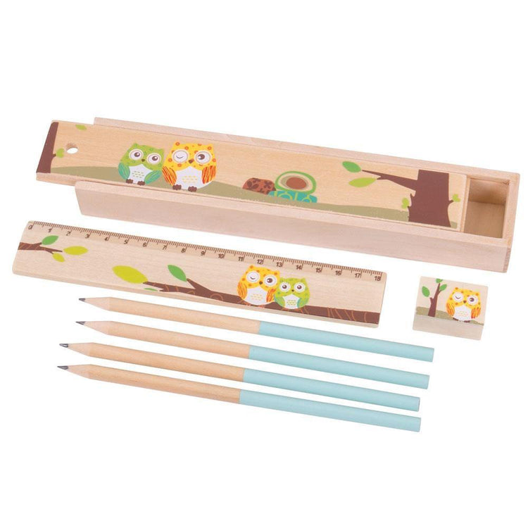 Bigjigs Owl Pencil Box - I Want That Present