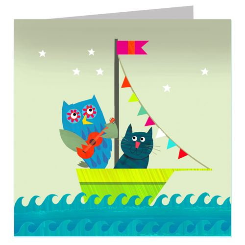 Blank Card - Owl and Pussycat - I Want That Present