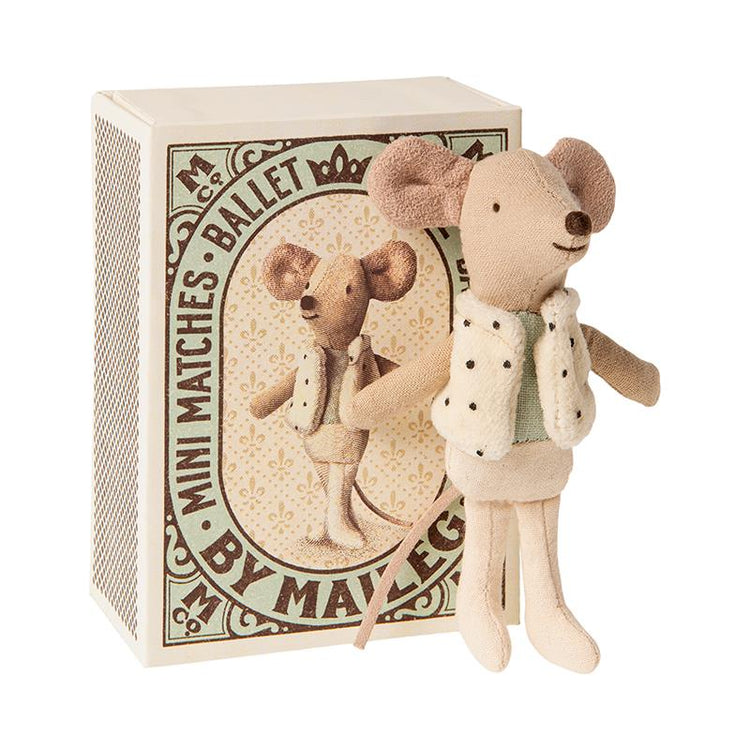 Maileg Little Brother Dancer Mouse in Matchbox