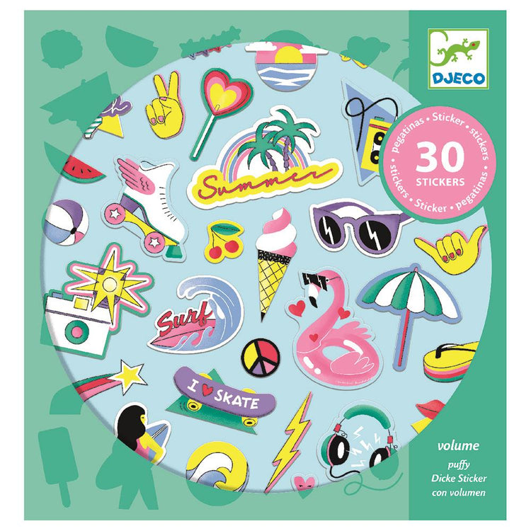 Djeco California Textured Puffy Stickers