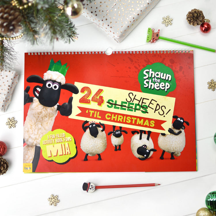Personalised Shaun the Sheep '24 Sheeps' Activity Advent Calendar