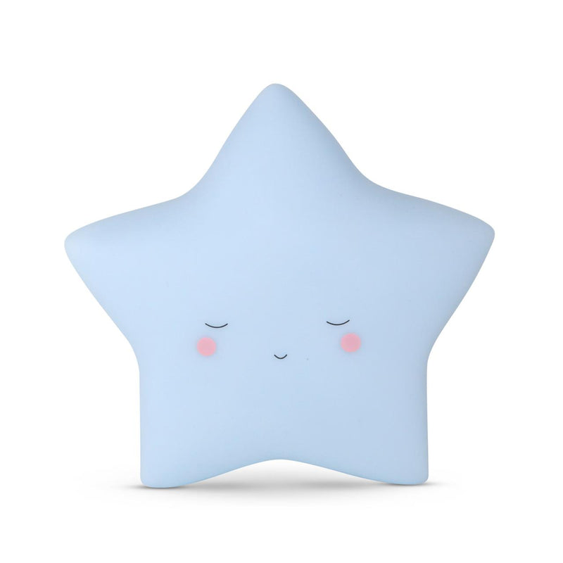 Baby Blue Star Little Night Light