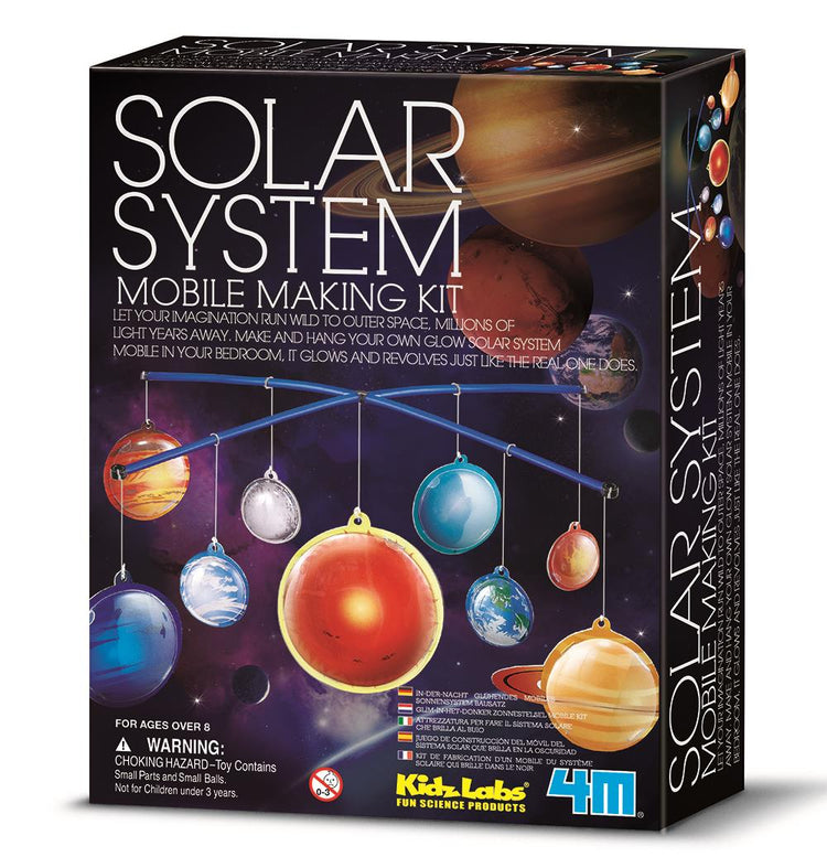4M 3D Glow in the Dark Solar System Mobile Kit