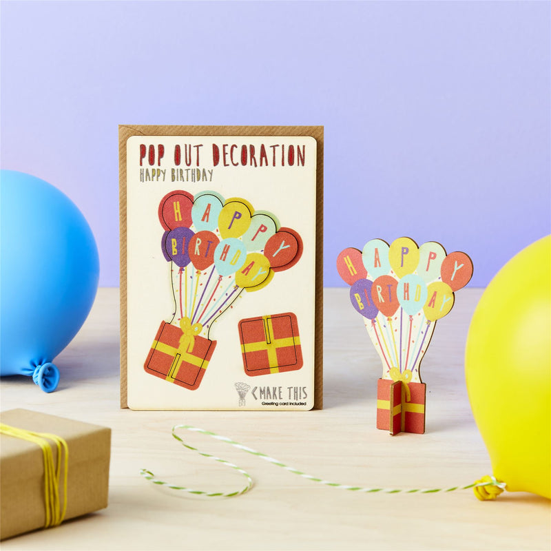 Pop Out Happy Birthday Greeting Card