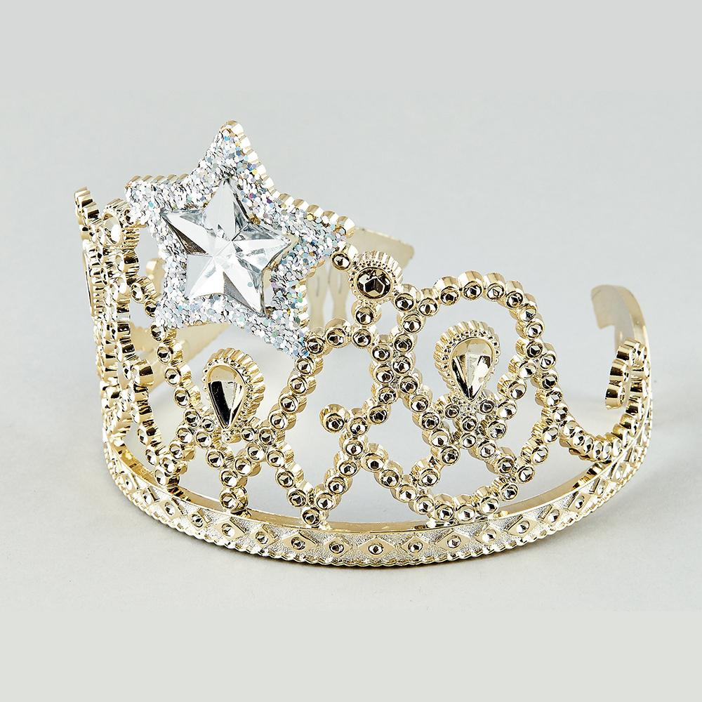 Gold & Silver Star Tiara by Floss & Rock