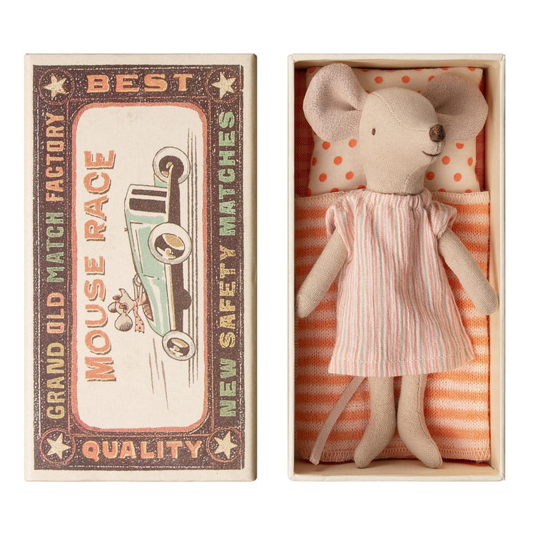 Maileg Big Sister Matchbox Mouse - Nightdress