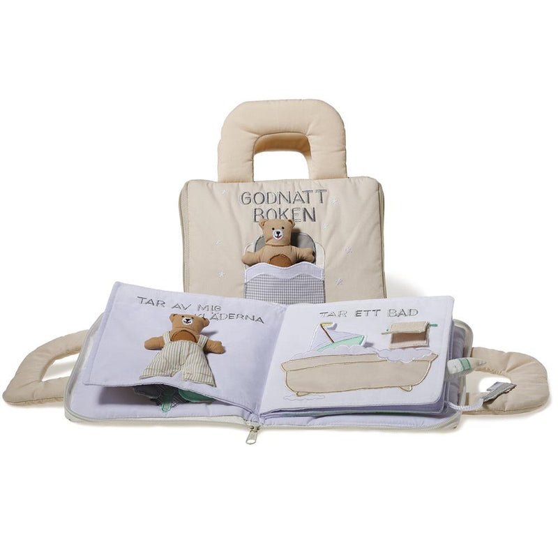 Oskar & Ellen Beige Fabric Goodnight Bunny book