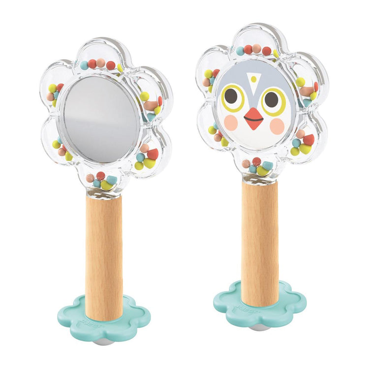 Baby White - BabyFlower Mirror Rattle