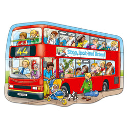 Big Red Bus Puzzle - I Want That Present