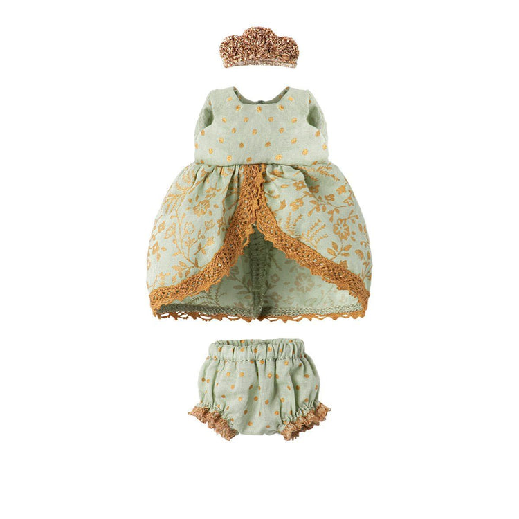 Maileg Micro & Mouse, Mint Princess dress