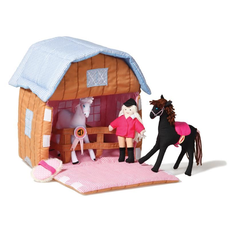 Oskar & Ellen Fabric Pony Stable with Ponies