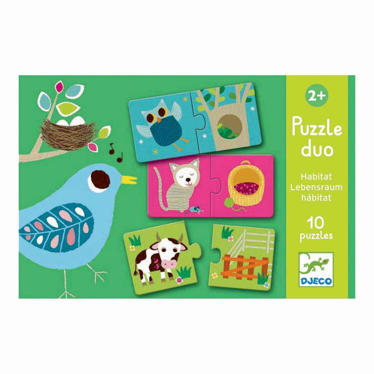 Djeco Duo Puzzle - Habitat - I Want That Present