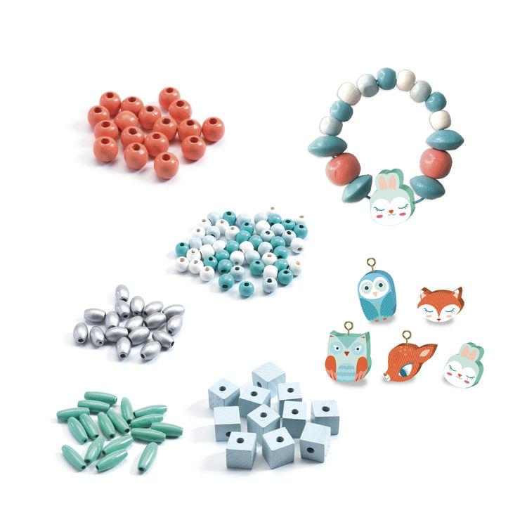 Djeco Wooden Beads & Small Animals