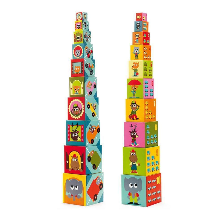Djeco Stacking Cubes - Vehicles