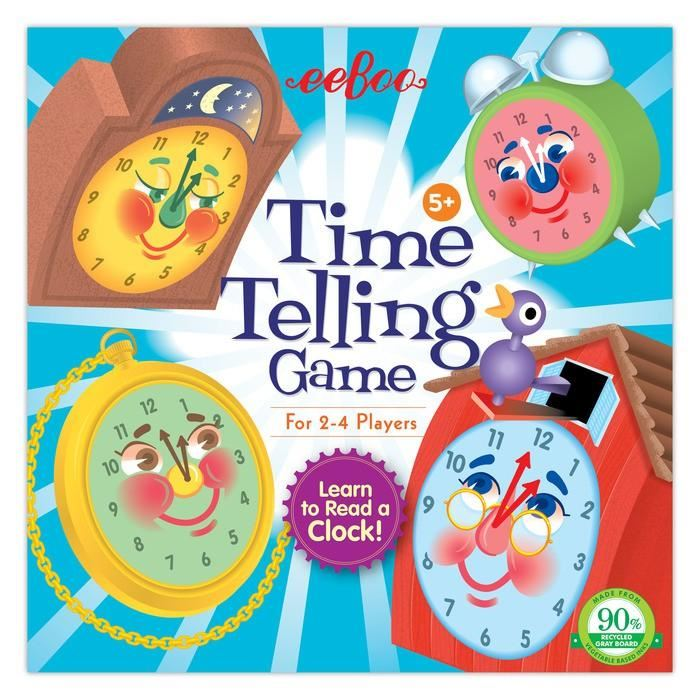 eeBoo - The Telling Time Board Game - I Want That Present