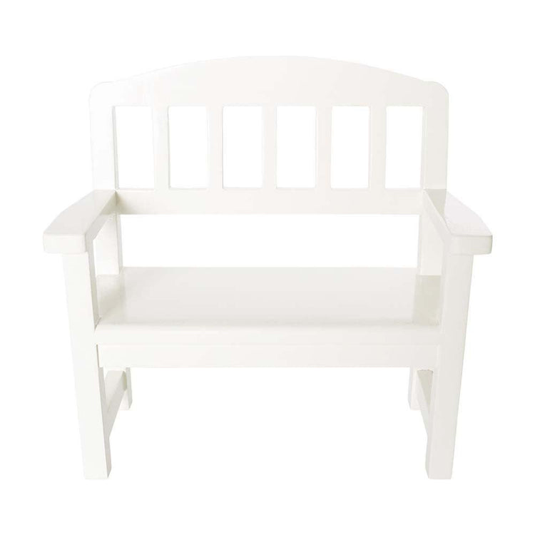 Maileg Mini White Wooden Bench
